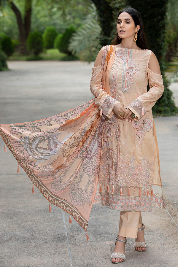 2590-SALMON EMBROIDERED LAWN UNSTITCHED