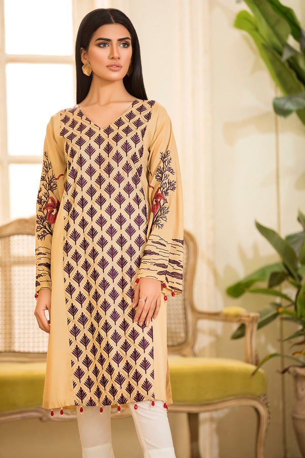 2473-SKIN EMBROIDERED LAWN STITCHED