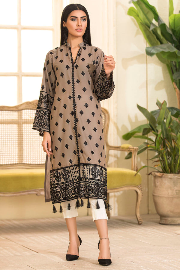 2469-MINK EMBROIDERED LAWN STITCHED