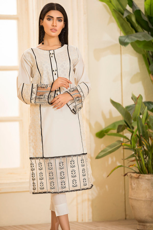 2478-OFF-WHITE EMBROIDERED LAWN STITCHED