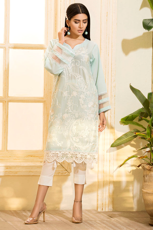 2468-LIGHT-FEROZI EMBROIDERED LAWN STITCHED