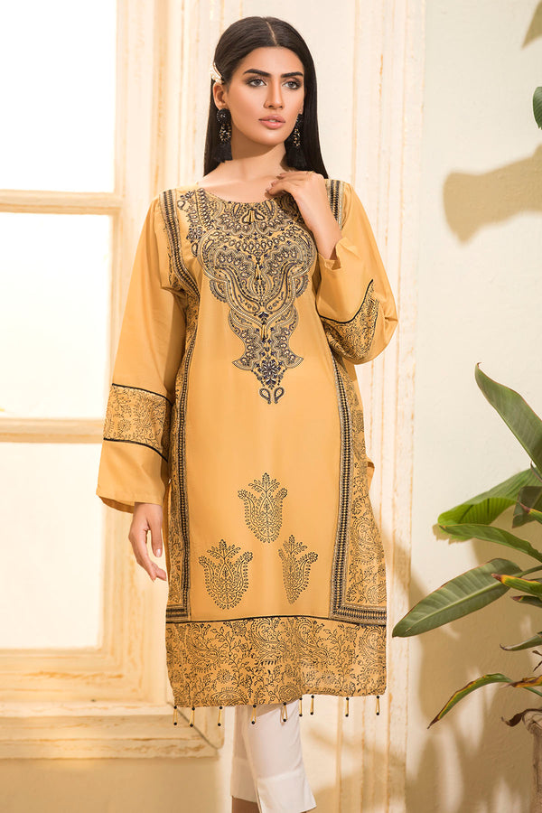 2471-GOLD EMBROIDERED LAWN STITCHED