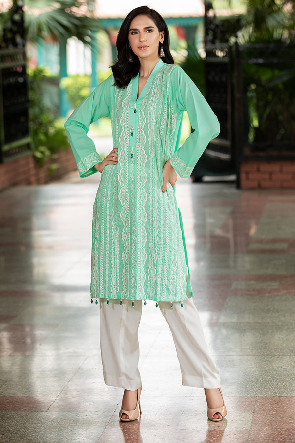 2465-AQUA-MARINE EMBROIDERED LAWN STITCHED