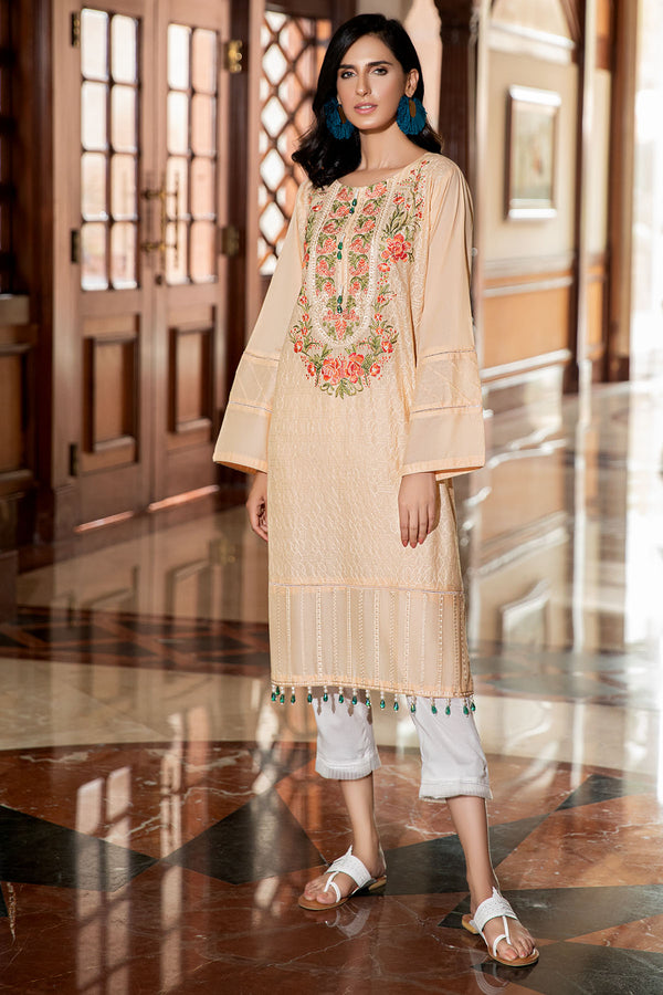 2475-SPANISH-WHITE EMBROIDERED LAWN STITCHED