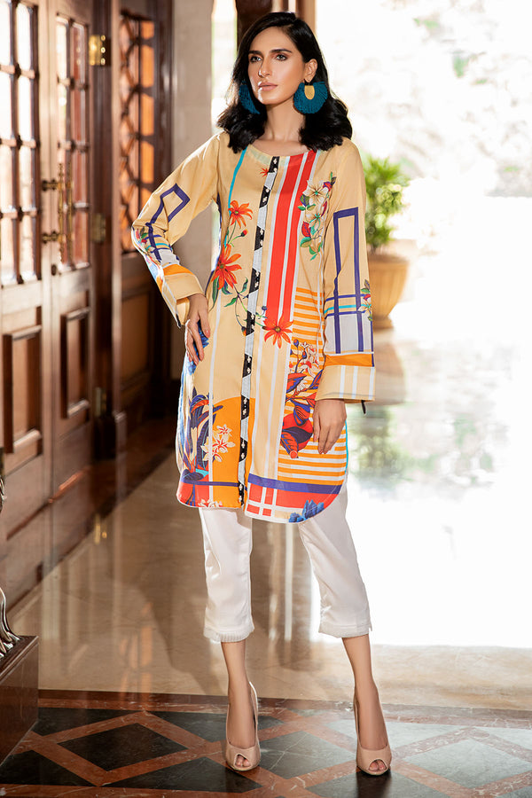 2541-BRANDY DIGITAL PRINTED LAWN STITCHED