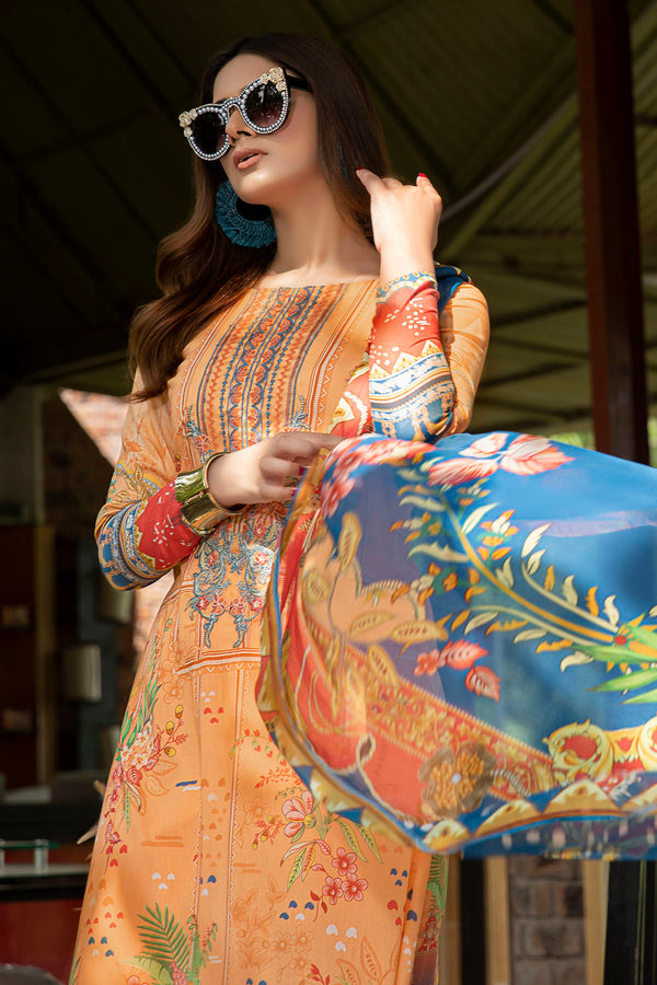 2546-CORAL DIGITAL PRINTED LAWN UNSTITCHED