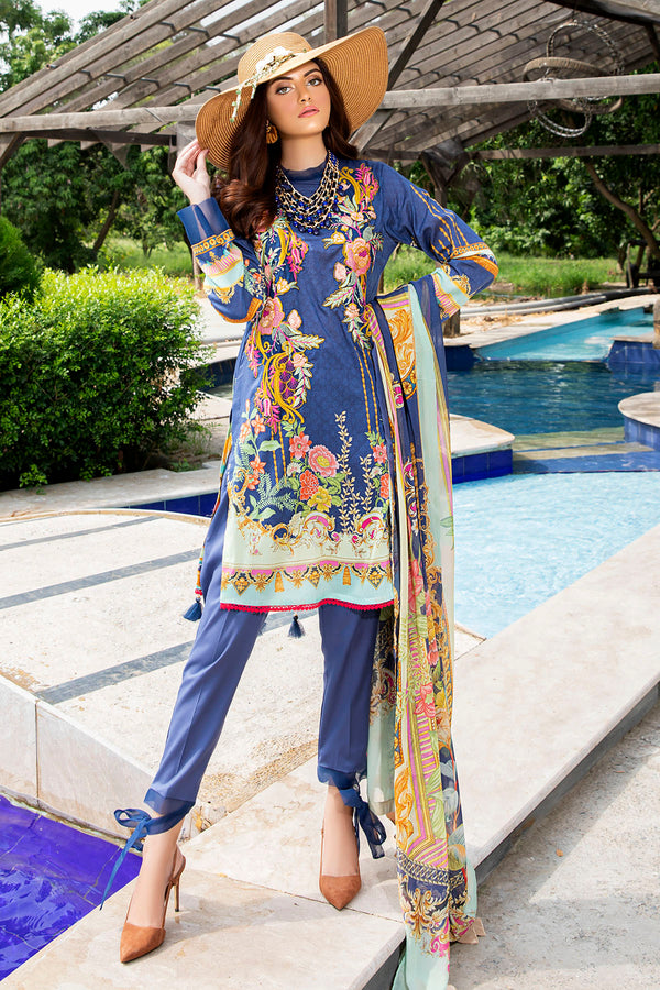 2549-BLUE-BERRY DIGITAL PRINTED LAWN UNSTITCHED