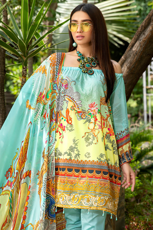 2558-SKY-BLUE DIGITAL PRINTED LAWN UNSTITCHED