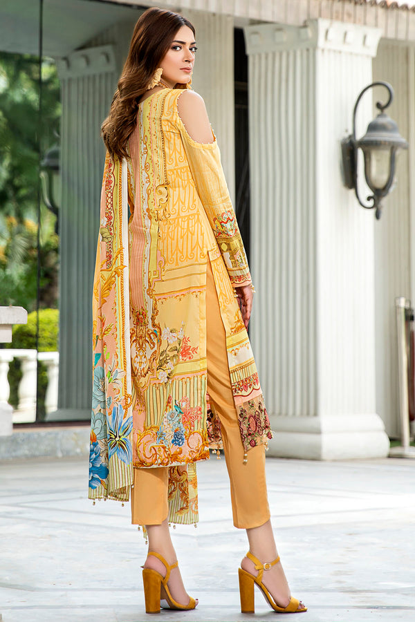 2559-PUMPKIN DIGITAL PRINTED LAWN UNSTITCHED