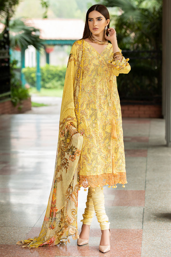 2600-VEGAS-GOLD DIGITAL PRINTED LAWN UNSTITCHED