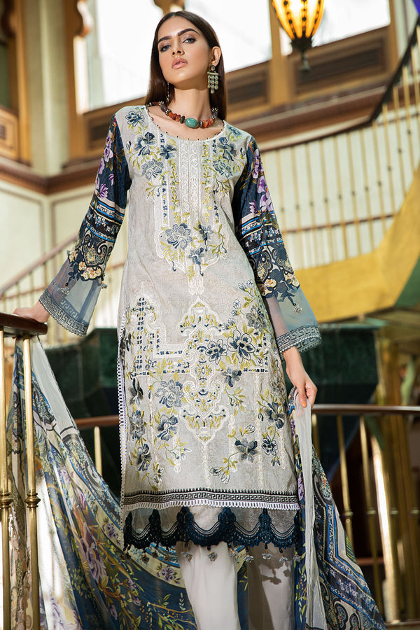 2603-TROLLEY-GREY DIGITAL PRINTED LAWN UNSTITCHED