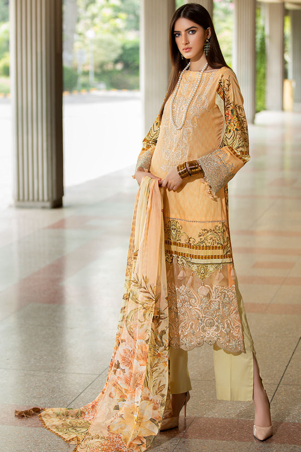 2606-POWDER-PEACH DIGITAL PRINTED LAWN UNSTITCHED