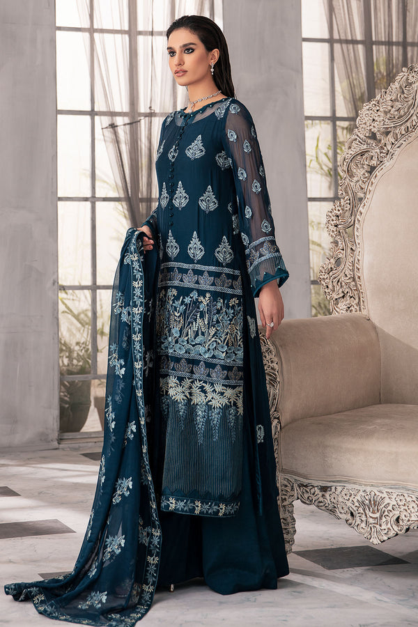 2650-CASABLANCA EMBROIDERED BEMBERG CHIFFON UNSTITCHED