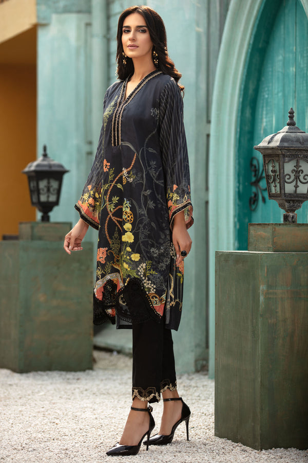 2690-NOIR-SHINE DIGITAL PRINTED SILK STITCHED