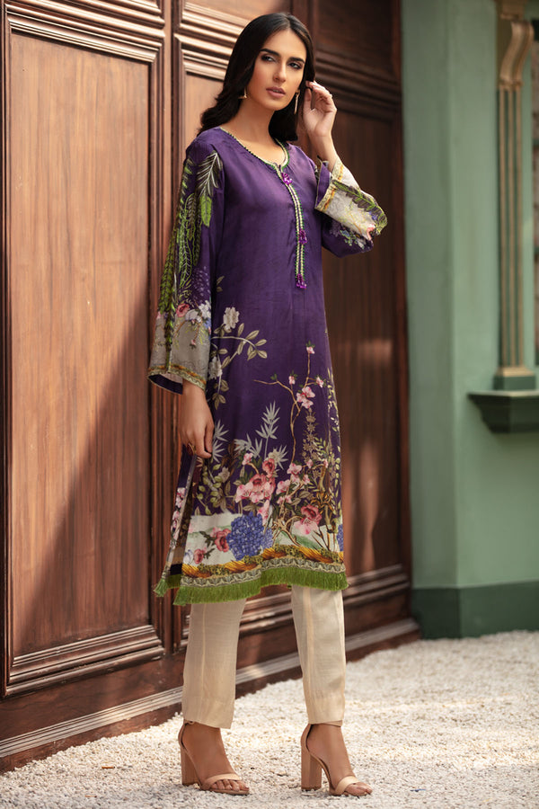 2692-MAGICAL-GARDEN DIGITAL PRINTED SILK STITCHED