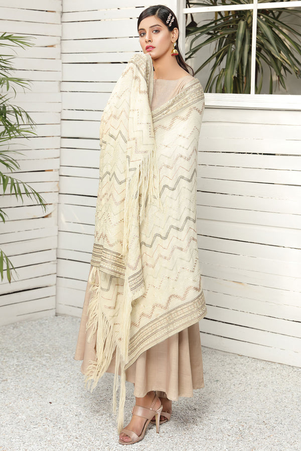2710-PEARL-CHARM EMBROIDERED STAPLE SHAWL