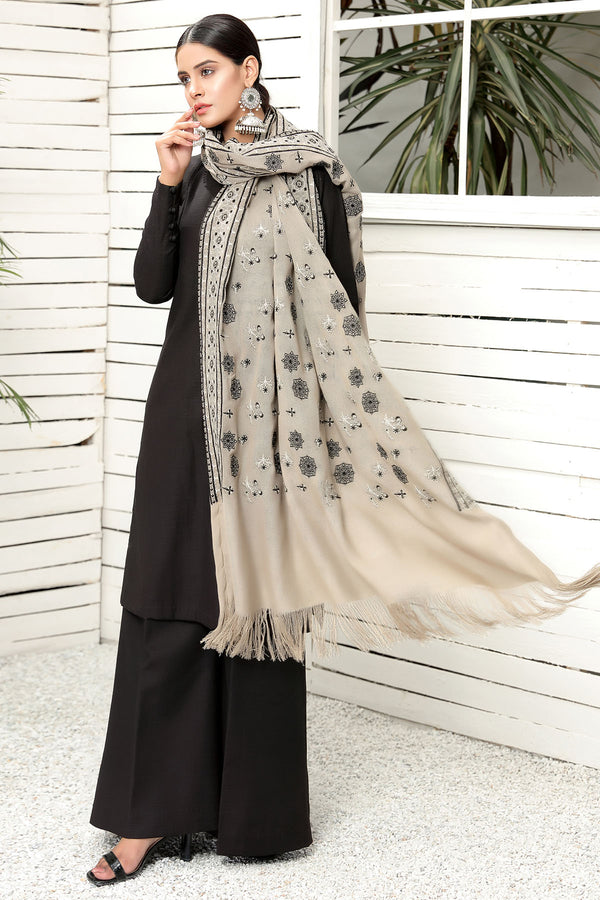 2712-STARDUST EMBROIDERED STAPLE SHAWL