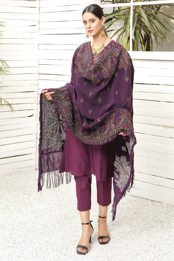 2717-PAISLY-FANTASY EMBROIDERED STAPLE SHAWL