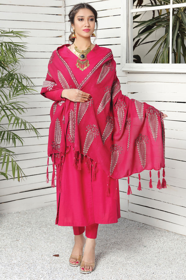 2736-CLASSIC-STATEMENT EMBROIDERED STAPLE SHAWL