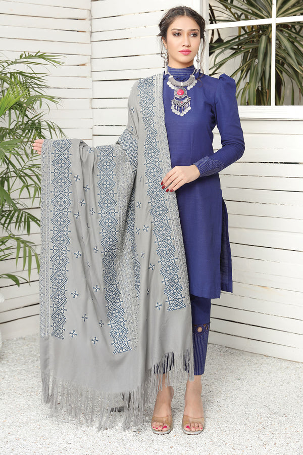 2737-CROSSTICH-GLAM EMBROIDERED STAPLE SHAWL