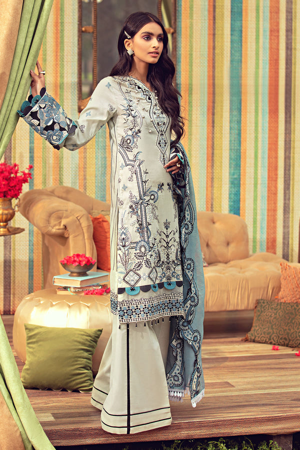 2798-MEDALLION EMBROIDERED LAWN UNSTITCHED