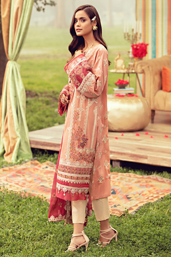 2801-CORAL-PINK EMBROIDERED LAWN UNSTITCHED