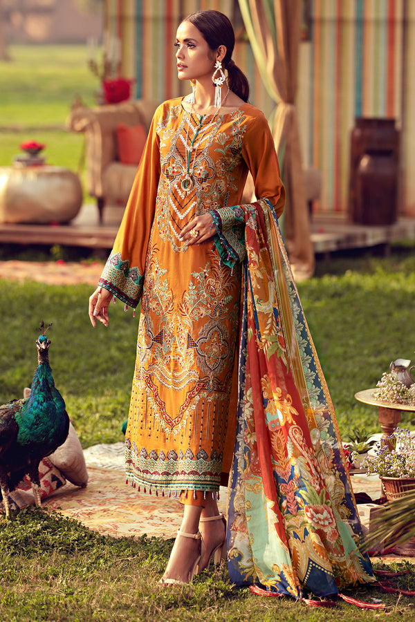 2806-BRONZE EMBROIDERED LAWN UNSTITCHED
