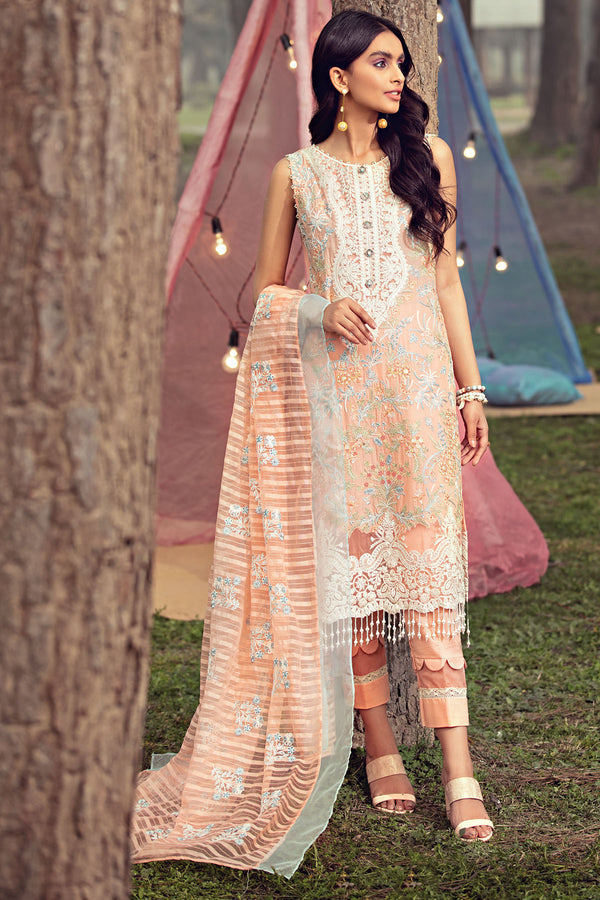 2807-LIGHT-SALMON EMBROIDERED LAWN UNSTITCHED