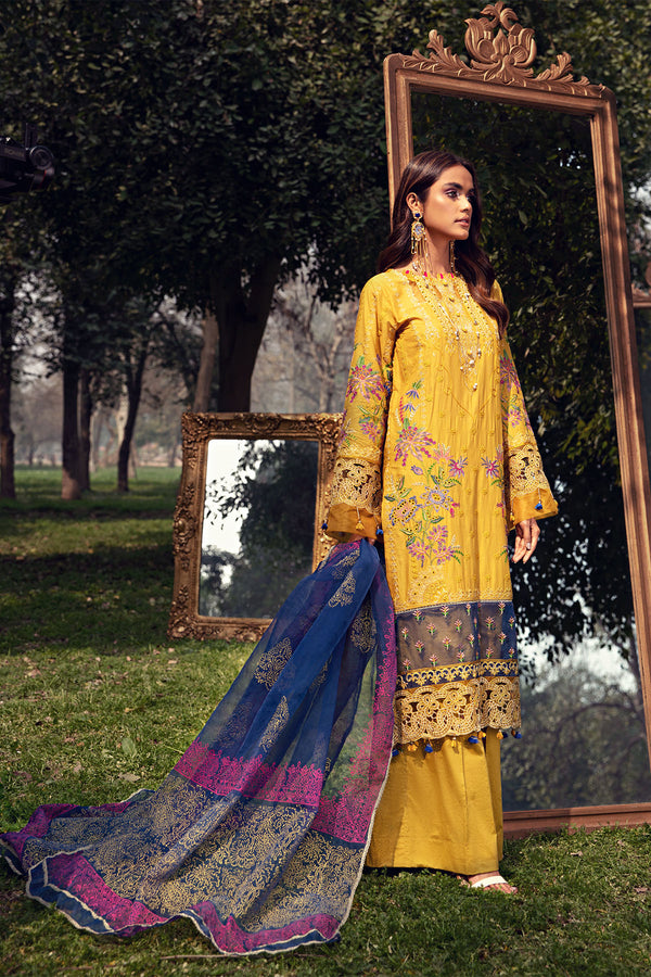2808-CANARY EMBROIDERED LAWN UNSTITCHED