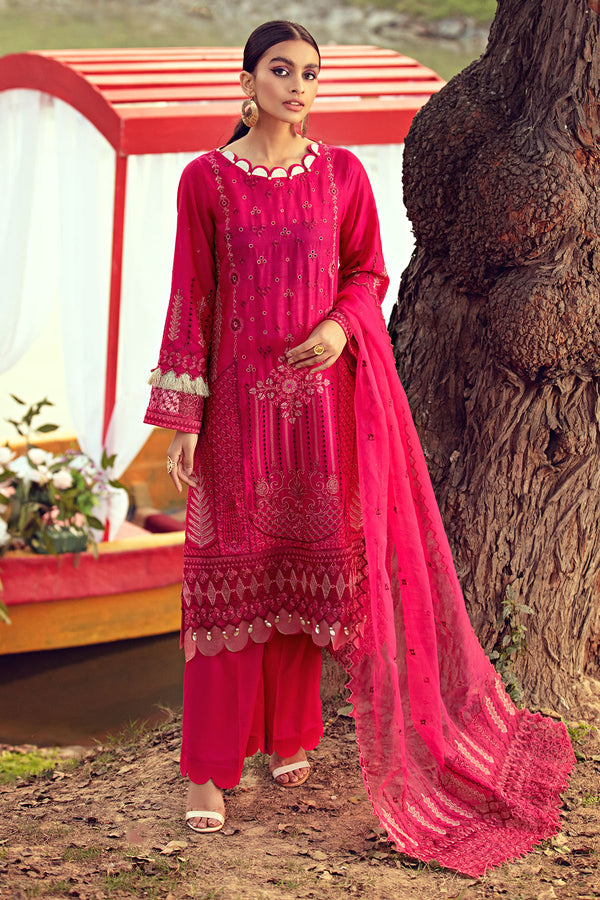 2812-FASCIA EMBROIDERED LAWN UNSTITCHED