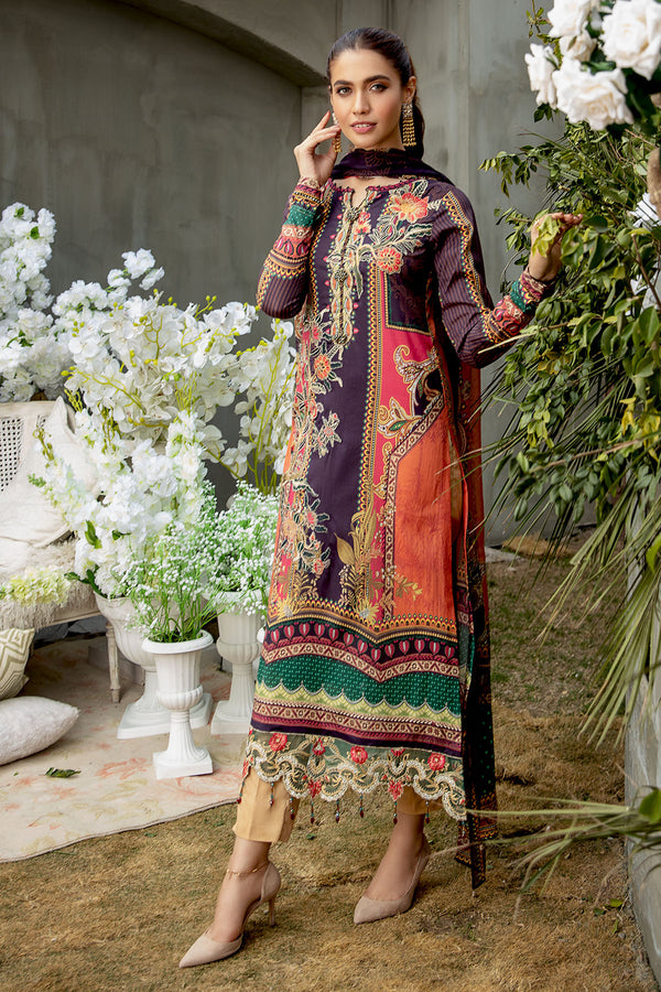 2815-SUNSET-HUE DIGITAL PRINTED LAWN UNSTITCHED