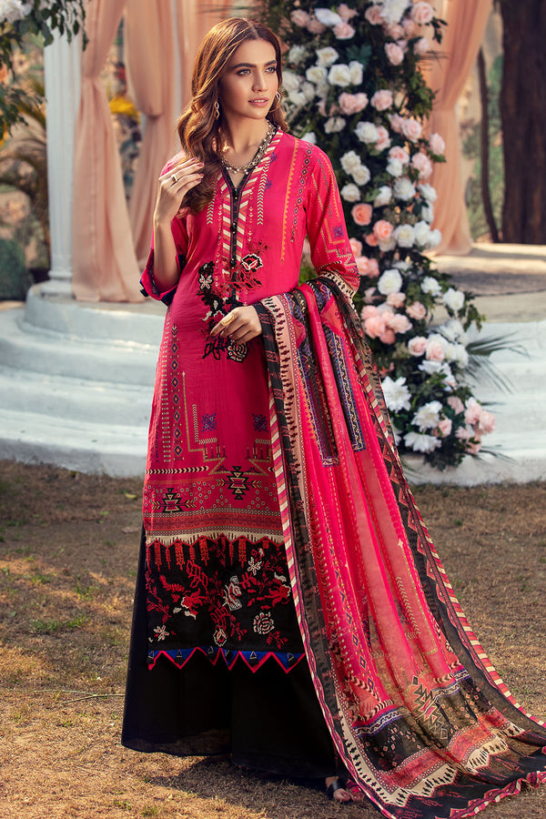 2817-ELECTRIC-PINK DIGITAL PRINTED LAWN UNSTITCHED