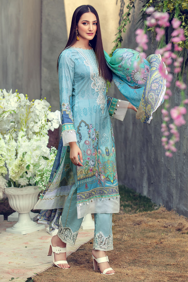 2821-BLUE-BELL DIGITAL PRINTED LAWN UNSTITCHED