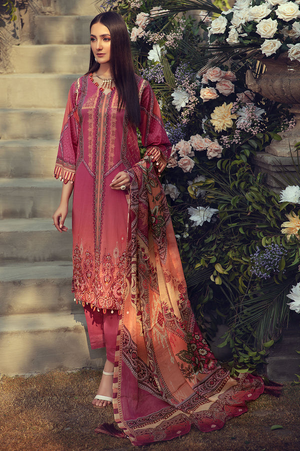 2826-OMBRE-FIRE DIGITAL PRINTED LAWN UNSTITCHED
