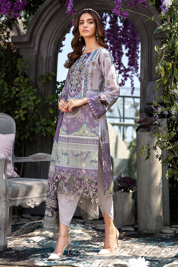 2828-BLOOMING-LILI DIGITAL PRINTED LAWN UNSTITCHED