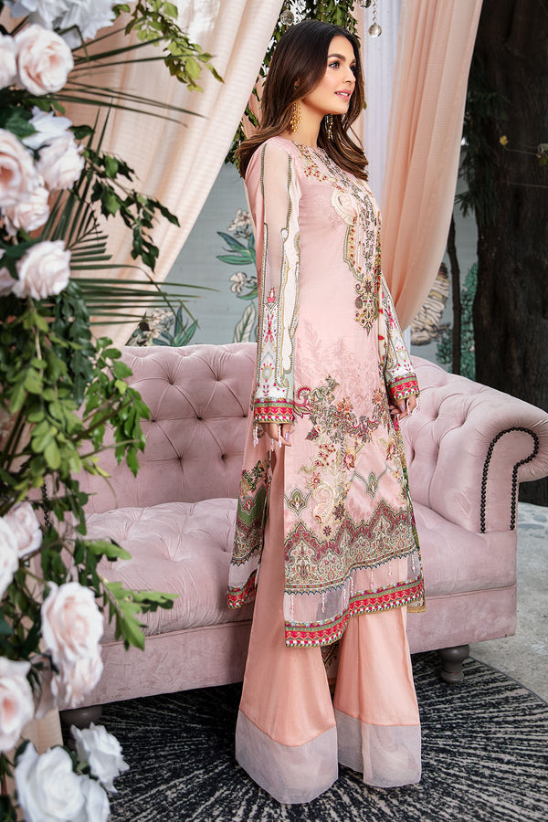 2830-PEACH-JULEP DIGITAL PRINTED LAWN UNSTITCHED