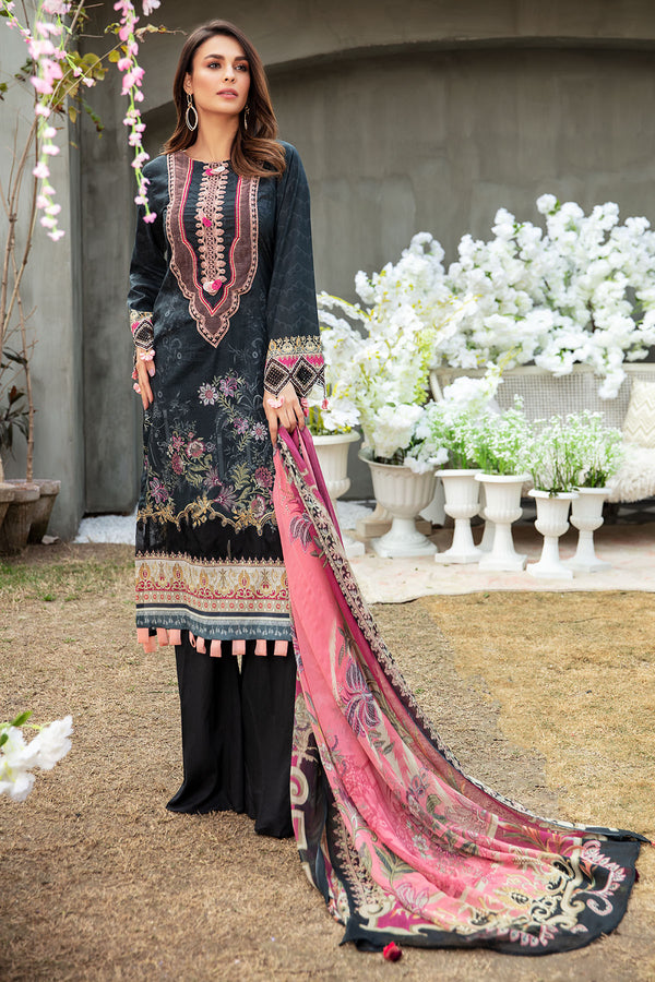 2831-BLACK-WAVES DIGITAL PRINTED LAWN UNSTITCHED