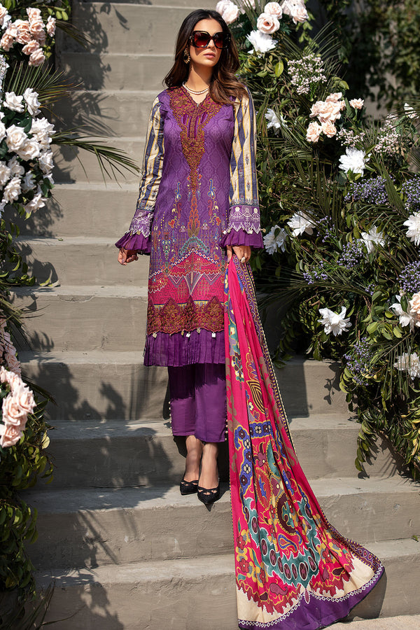 2832-PURPLE-GLIMMER DIGITAL PRINTED LAWN UNSTITCHED