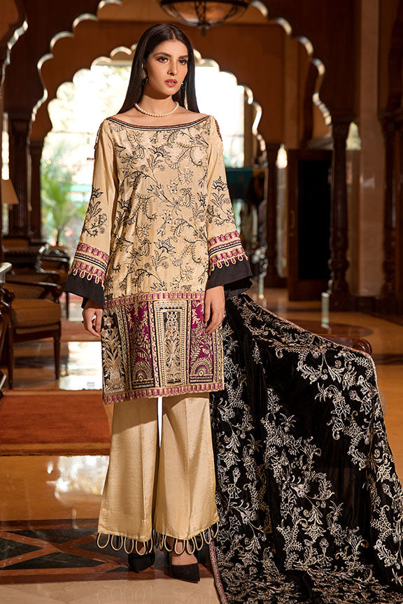 2367-ROYAL-MAJESTY EMBROIDERED SILK UNSTITCHED