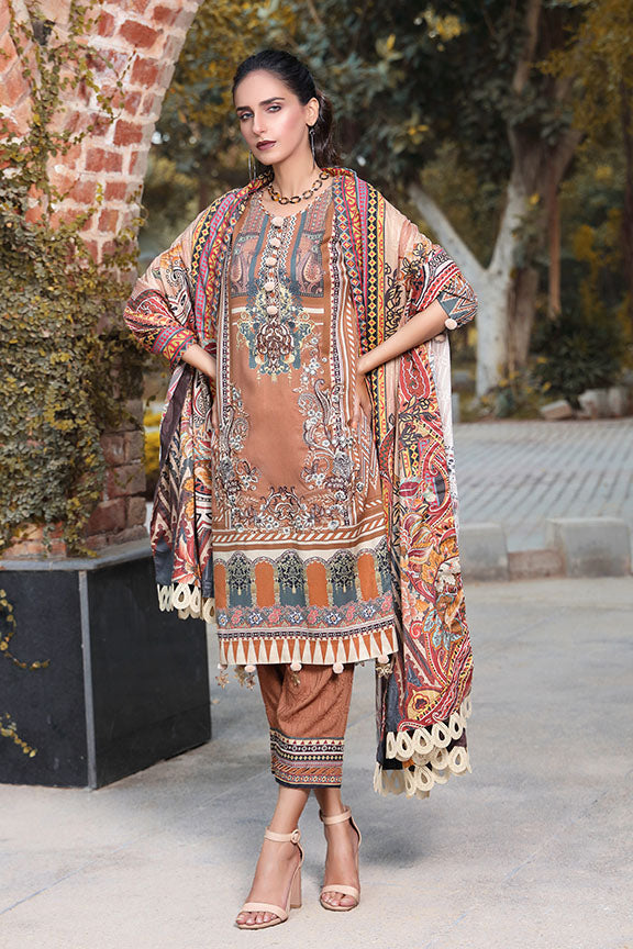 2404-COPPER-GLOW DIGITAL PRINTED LINEN STITCHED