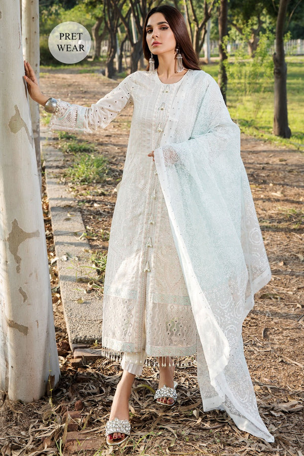 2445-GREY-NURSE EMBROIDERED LAWN STITCHED