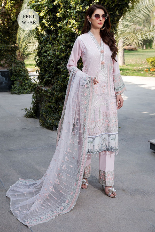 2452-POWDER-PINK EMBROIDERED LAWN STITCHED