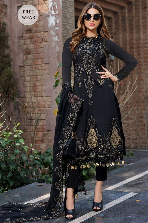 2456-BLACK-JEWEL EMBROIDERED LAWN STITCHED