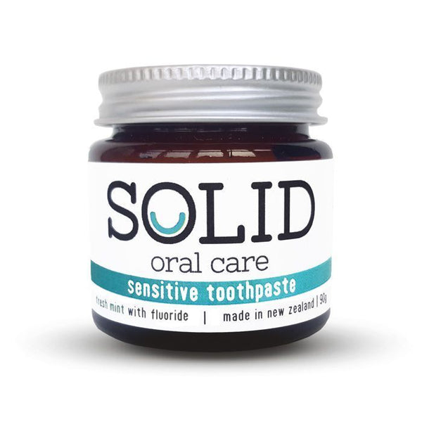 Solid oral care - sensitive fluoride toothpaste (fresh mint - 90g)