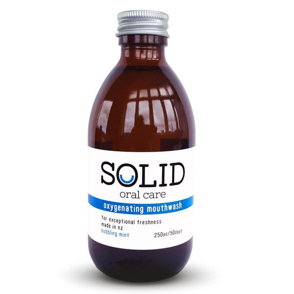 Solid oral care - oxygenating mouthwash (bubbling mint - 250ml)