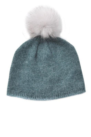 Furry Pom Beanie (Multiple Colors)