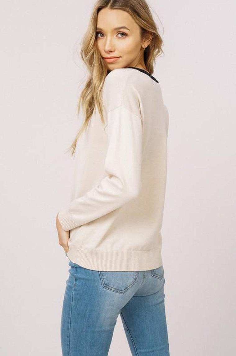 All the Feels Lace-Up Sweater