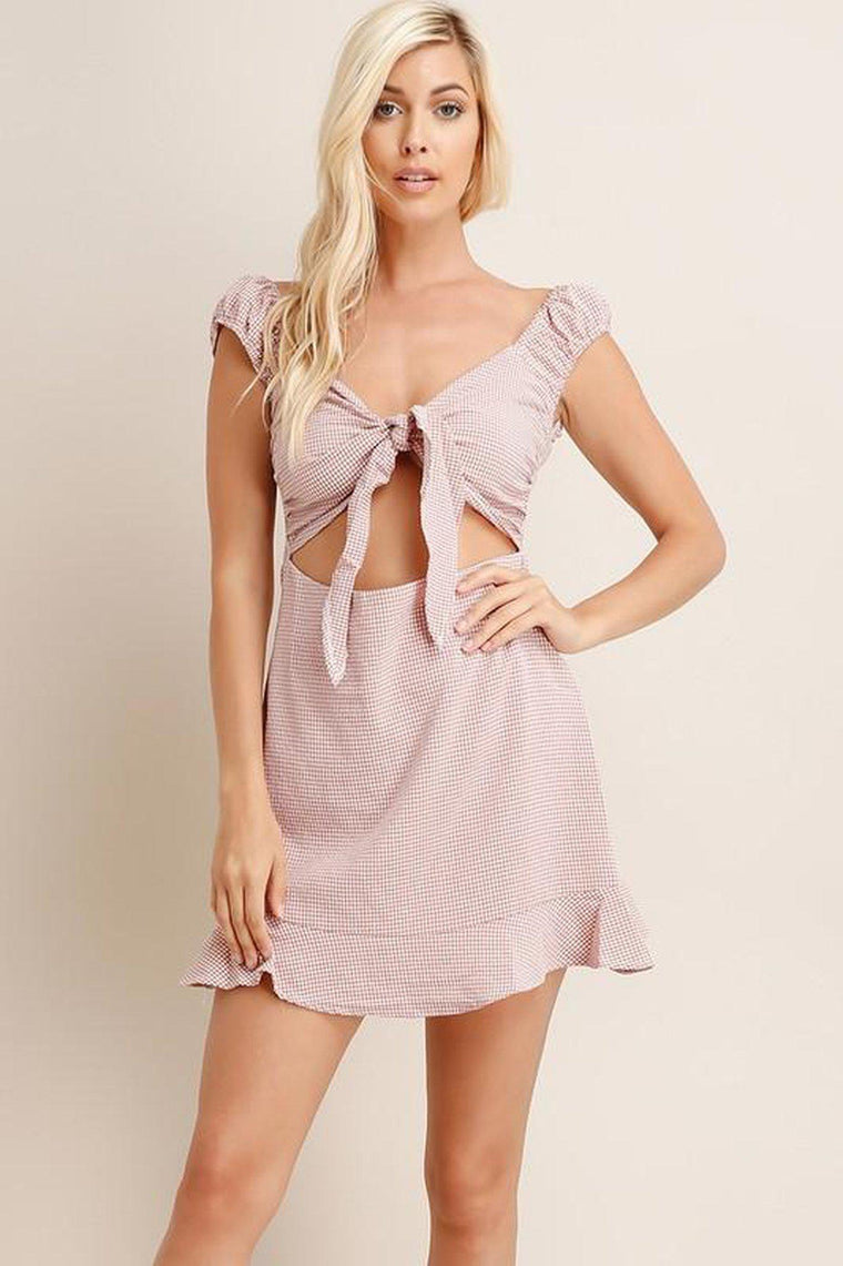 Amore Front Cut Out Dress