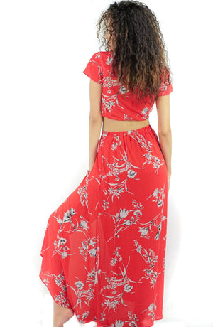 Summer Love Tropical Maxi Skirt and Crop Top