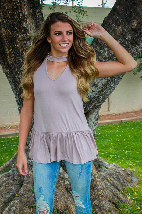 The Emma Top - Taupe